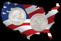 1980 Liberty Silver Dollar Stock Photos