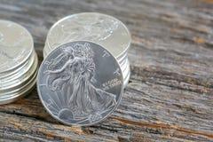 Liberty Silver Dollars que camina Imagen de archivo