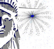 Liberty And Sky Rocket Stock Images