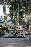 Liberty Square-Brunnen stockfoto