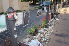 Liberty Square Budapest-Memorial wijdde aan de slachtoffers van Nazi Occupation toe stock foto's