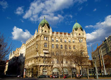 Liberty Square in Budapest stock photo