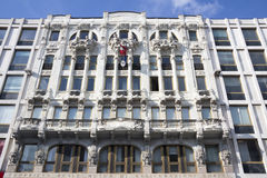 Liberty square,  historic building facade  in Milan Stock Photo