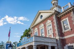 Liberty Square at the Magic Kingdom. Orlando, Florida: December 2, 2017: Liberty Square at The Magic Kingdom, Walt Disney World. In 2016, the park received 20 royalty free stock photos