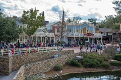 Liberty Square at the Magic Kingdom. Orlando, Florida: December 2, 2017: Liberty Square at The Magic Kingdom, Walt Disney World. In 2016, the park received 20 Royalty Free Stock Image