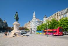 Liberty Square in Porto Royalty Free Stock Photos
