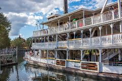 Liberty Square Riverboat, the Liberty Belle at the Magic Kingdom Royalty Free Stock Images