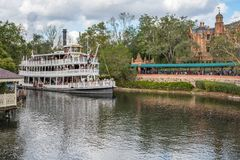 Liberty Square Riverboat, the Liberty Belle at the Magic Kingdom. Orlando, Florida: December 2, 2017: Liberty Square Riverboat, the Liberty Belle, at The Magic stock photography