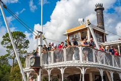 Liberty Square Riverboat, the Liberty Belle at the Magic Kingdom Royalty Free Stock Image