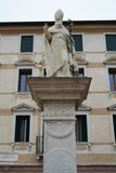 Liberty Square and statue in Bassano del Grappa, Italy Stock Images
