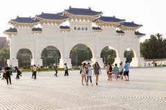 Liberty Square in Taipei with Dazhong Zhizheng gates Stock Photography
