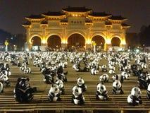 Liberty square, Taipei, Taiwan. Liberty square (National Chiang Kai-shek Memorial Hall) with panda and Formosan Black Bear stock image