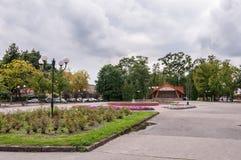 Liberty Square in Wegorzewo, Masurian Lake District Royalty Free Stock Photos