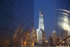 Liberty State Park 2. From New Jersey September 11 memorial(Empty Sky) to view downtown Manhattan skyscrapers. The tallest one is new world trade center Royalty Free Stock Photos
