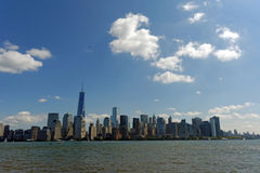 Liberty State park. View of Manhattan Skyline from Liberty Statepark royalty free stock photography