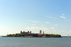 Liberty Statepark. View of ellis island from liberty statepark Stock Photography