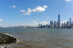 Liberty Statepark. View of Manhattan Skyline from Liberty Statepark Stock Image