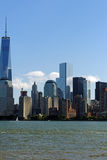 Liberty Statepark. View of Manhattan Skyline from Liberty Statepark Royalty Free Stock Images
