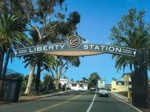 Liberty Stations-Zeichen lizenzfreie stockbilder