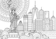 Liberty Statue lizenzfreie abbildung