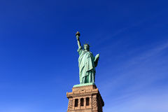 The Liberty Statue. With clear blue sky sunny day, New York, United State of America royalty free stock photography
