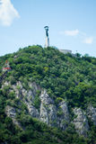 Liberty statue. On the Gellert hill, Budapest, Hungary stock images