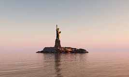 Liberty statue. In post apocalyptic environment royalty free stock photography