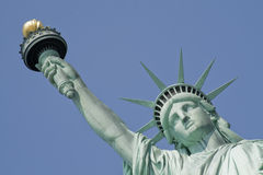Liberty statue. Shot of the liberty statue. New york city Royalty Free Stock Photo