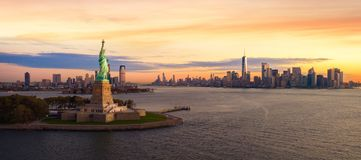 Liberty Statue em New York City fotografia de stock royalty free