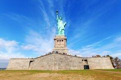 Liberty Statue. The famous Liberty Statue on Liberty Island, NYC, USA royalty free stock image