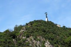 Liberty statue on Gellert hill Royalty Free Stock Photos