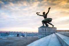 Liberty statue on Gellert Hill in Budapest, Hungary Stock Photography