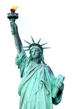 Liberty Statue. Isolated on white background royalty free stock image