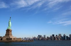 Liberty Statue on Manhattan - New York Royalty Free Stock Image