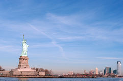 Liberty statue in Manhattan, NY, USA Stock Image