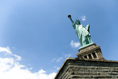 Liberty statue in New York. The Liberty Statue in New York, USA. copy space stock image