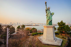 Liberty statue in Odaiba Royalty Free Stock Photo