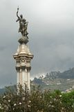 Liberty Statue, Plaza de la Independencia. Quito, Ecuador stock images