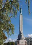The liberty statue in Riga, Latvia, Europe Stock Photography