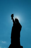 Liberty Statue Silhouette Royalty Free Stock Image