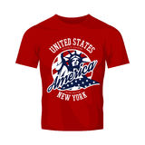 Liberty Statue vector logo concept isolated on red t-shirt Stock Photography