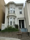 156 Liberty Street een Italianate-stijlhuis royalty-vrije stock foto's