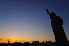 Liberty for Tokyo. Replicas Statue of liberty in Odaiba, Tokyo Royalty Free Stock Image