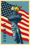 Liberty Torch. Statue of Liberty Torch. USA landmark and symbol of Freedom and Democracy Royalty Free Stock Photo