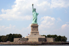 Statue of Liberty seen from the water  Stock Photo