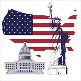 Liberty white house flag vector. For wallpaper wall Royalty Free Stock Image