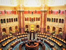 Liberyen av kongressen Royaltyfria Bilder