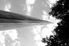 Libeskind. Judishes museum.black and white. Low angle view. Tree Stock Photography