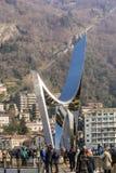 Libeskindbeeldhouwwerk in Como Stock Foto's