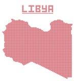 Libia África Dot Map Imágenes de archivo libres de regalías